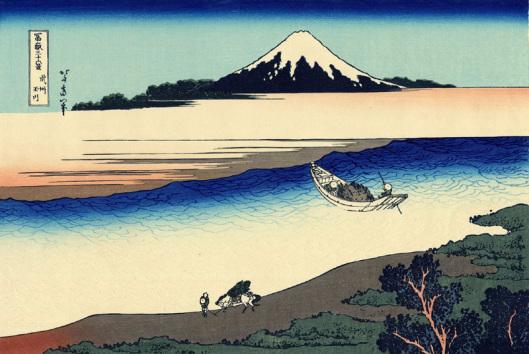 Der Fluss Tama in der Provinz Musashi